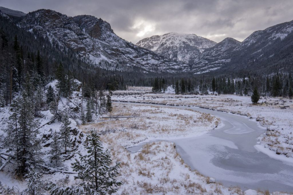 Along the East Inlet Trail, in Rocky Mountain National Park.  Grand Lake, Colorado.